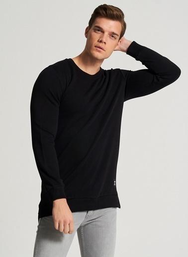 Pi π Yırtmaç Detaylı Sweatshirt Siyah
